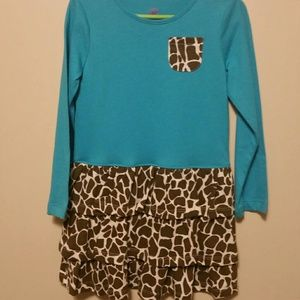 Other - Toddler girls size 4T dress teal leopard print